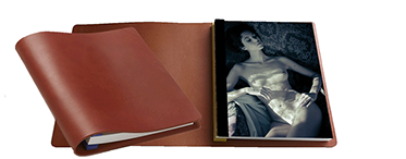 Boxed hand crafted luxury leather photo album with between 20 and 30 of your sensual erotic nude - boudoir photo shoot images
